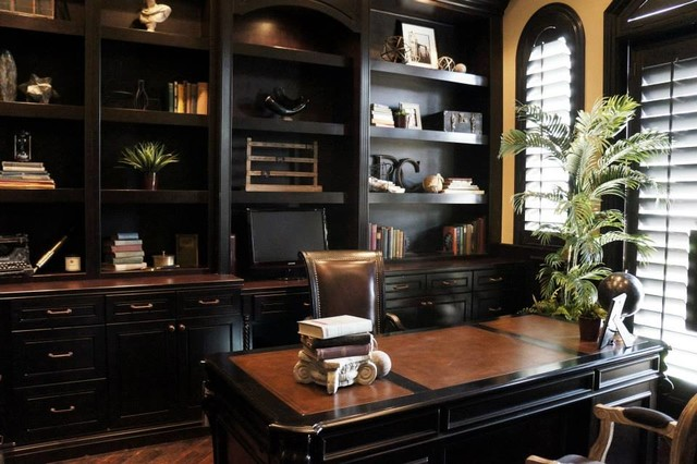 Anthem Country Club Old World Study Traditional Home