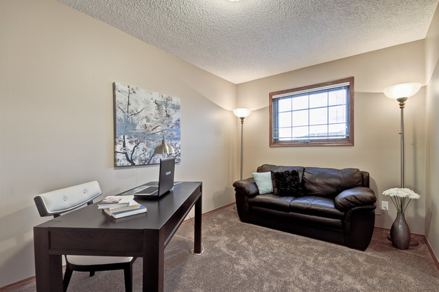 Arbour Lake Calgary Staging transitional-home-office
