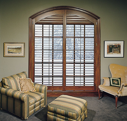 Arched Shutter Panels Traditional Home Office Boston By Back Bay Shutter Co Inc
