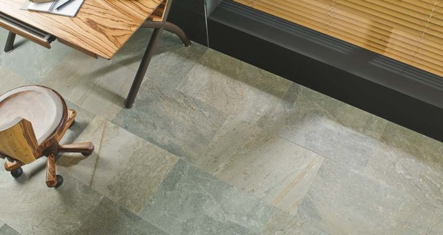 Arizona Stone Floor Tiles. PORCELANOSA Modern Home Office And Library