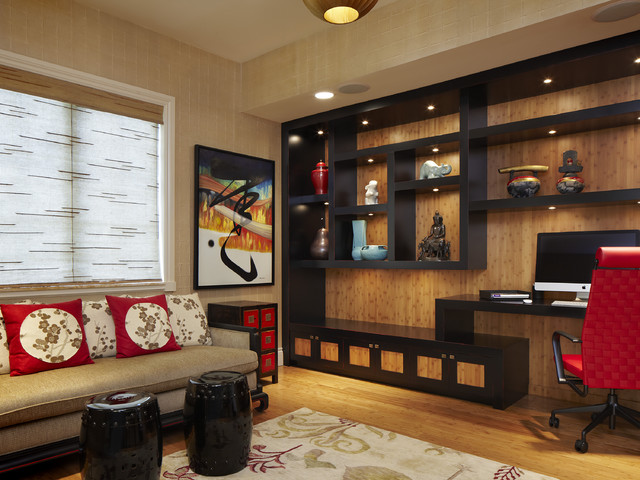 Arnold schulman asian home office miami by arnold for Japanese office interior design