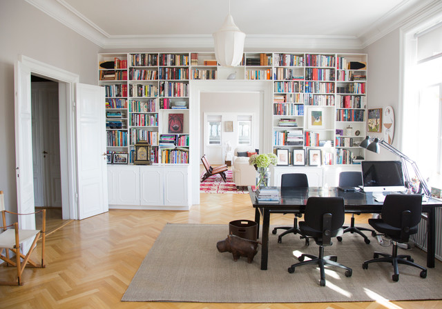 Art Collector's Apartment transitional-home-office