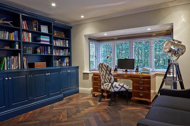 Art deco conversion modern home office manchester uk for Home office design ltd