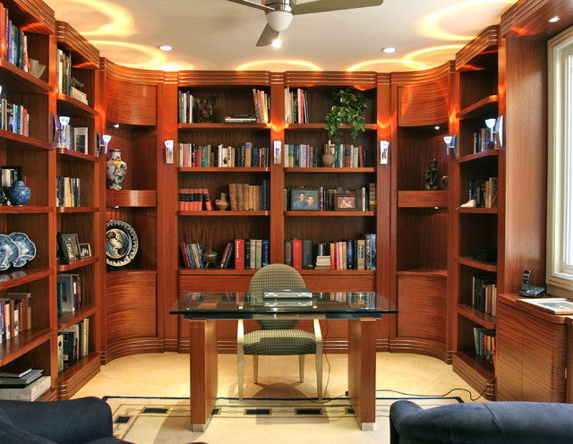 Art Deco Study Contemporary Home Office And Library
