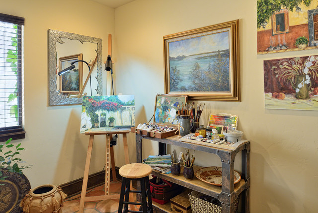 Art Studio Mediterranean Home Office