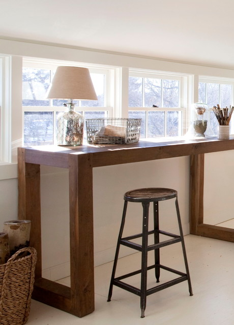artist loft desk view beach style home office boston by lisa