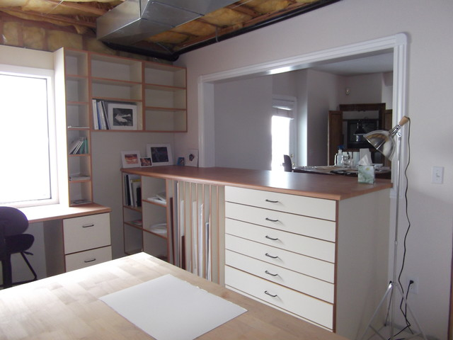 Artist Studio Cabinets Contemporary Home Office Salt