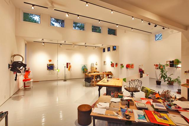 artist studio modern home office bridgeport by