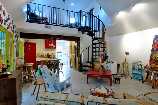 Artists studio in houston eclectic home office for 22 salon houston