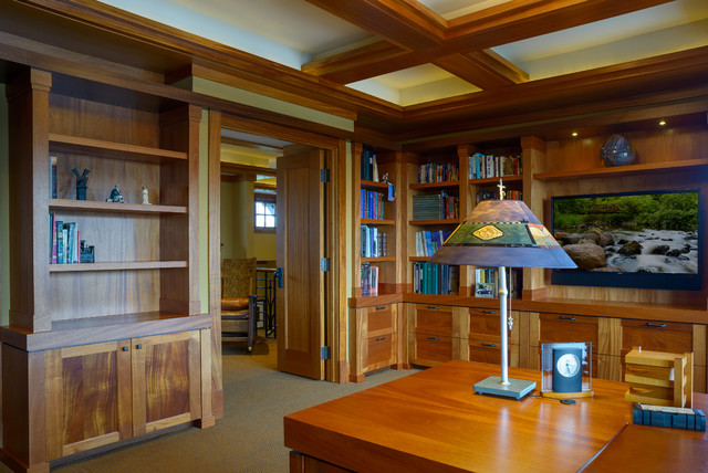 arts crafts home office. Arts And Crafts, Prairie In Wayzata Arts-and-crafts-home-office Crafts Home Office Houzz