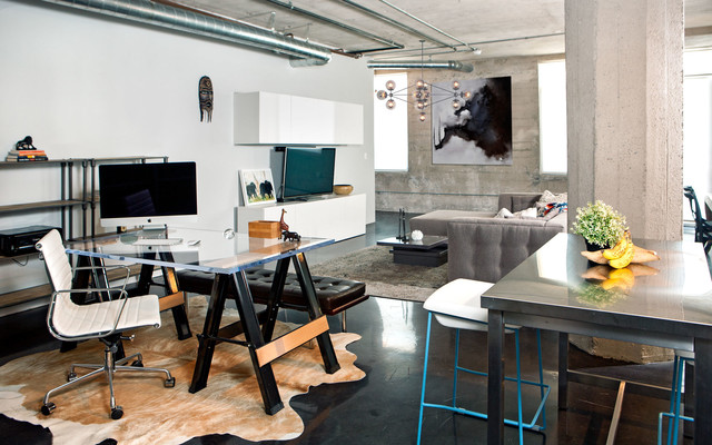Charmant Arts District Loft Industrial Home Office