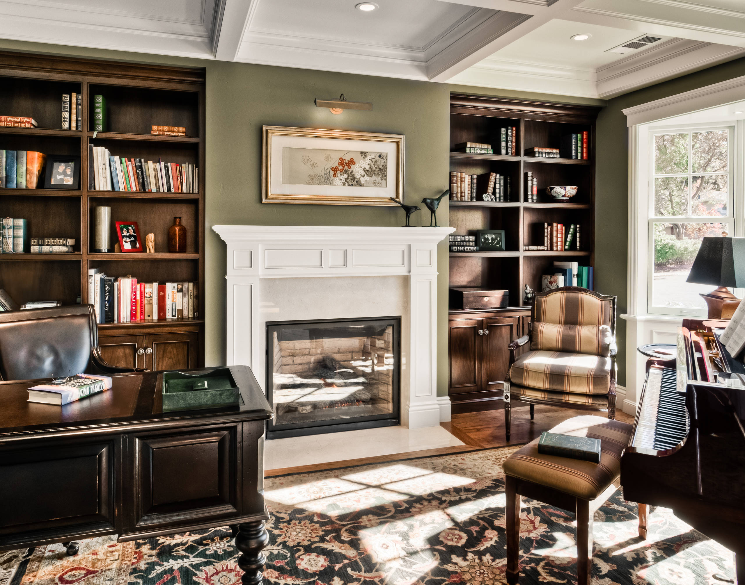 75 Beautiful Home Office With Green Walls Pictures Ideas March 2021 Houzz