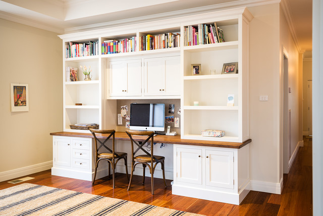 Ashburton desk and study nook traditional home for Study room wall cabinets