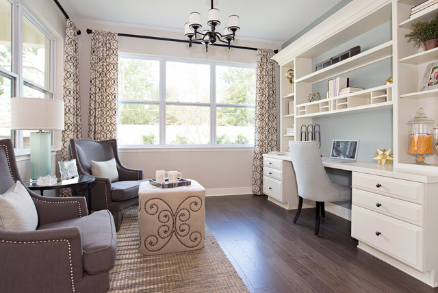 Ashton Woods Model Home Transitional Home Office Orlando By