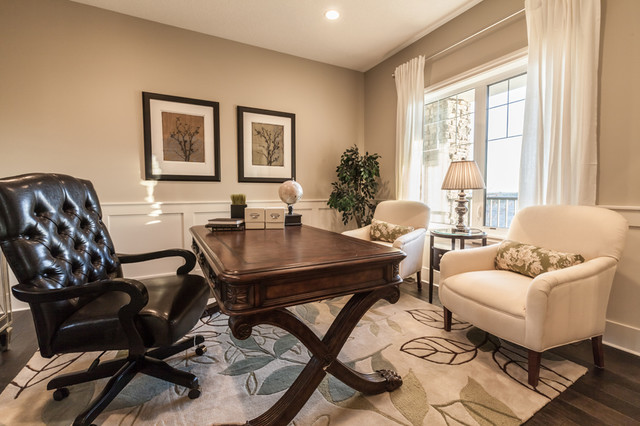 Aspen Woods Show Home transitional-home-office