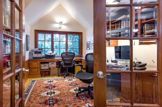 Atherton Art Home contemporary-home-office