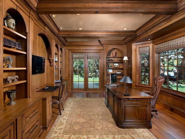 Atherton Home Office トラディショナル 書斎ホームオフィス