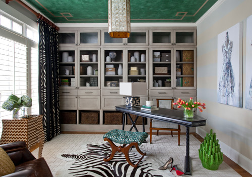 Home Office Makeover From Dull To An Emerald Gem Aol