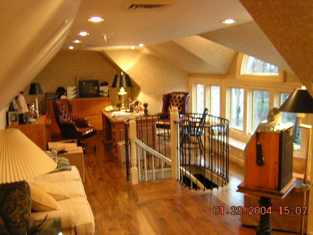 Attic Renovation traditional-home-office