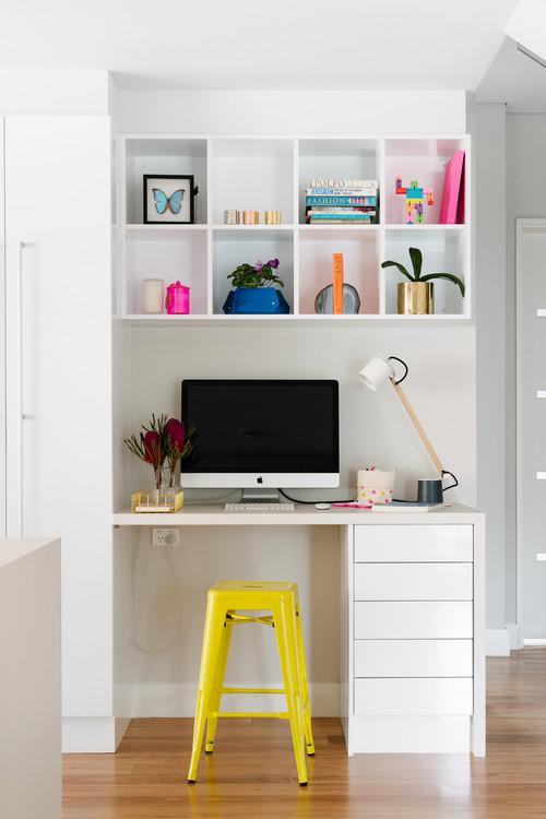 【Houzz】ホームオフィスを使いやすく整理する9の秘訣 8番目の画像