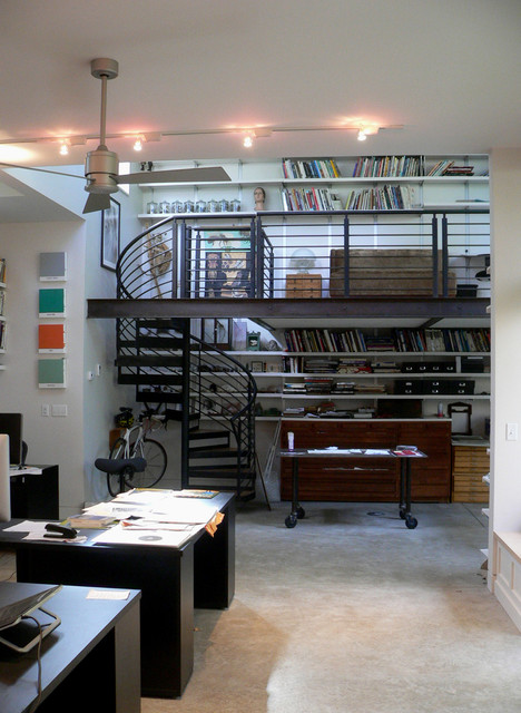 Author and illustrator studio addition industrial home for Home office additions