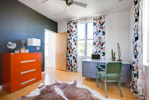 mueble de oficina naranja