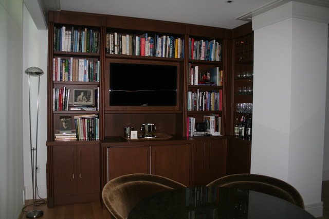 aventura contemporary home office and library