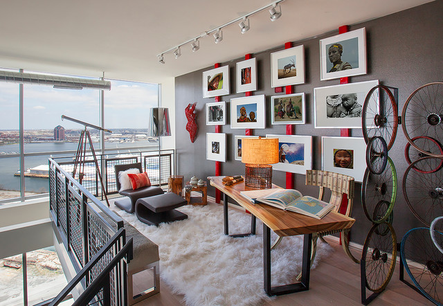 Loft Home Office. Baltimore Condo Loft Industrial Home Office Home Office  Houzz