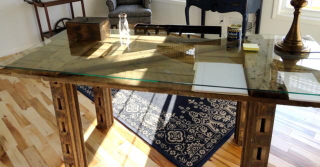 Merveilleux Barn Door Desk Tropical Home Office