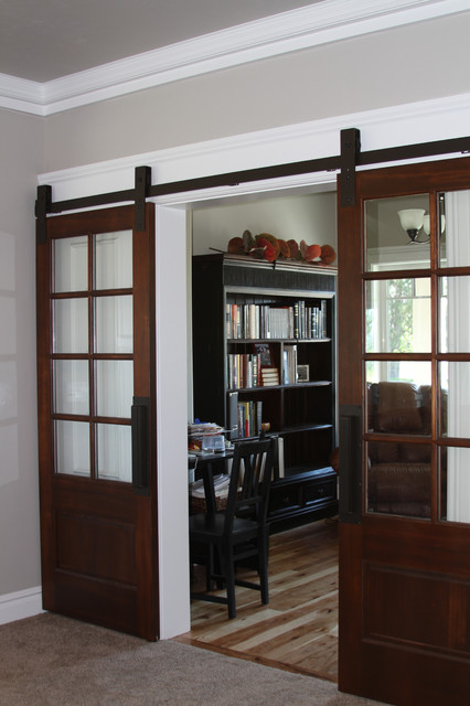 barn door hardware - Traditional - Home Office - other ...