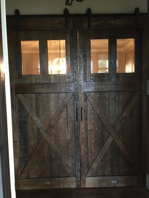 Barn doors rustic home office nashville by stephen for Barn doors for home office