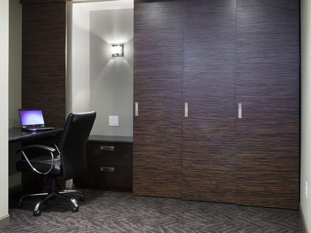 Basement Development contemporary-home-office