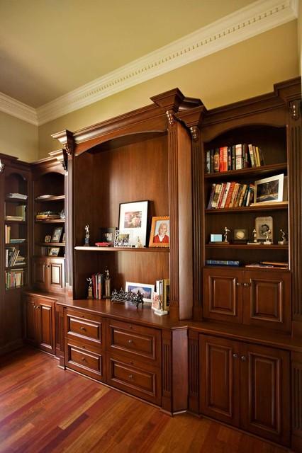 Beau Inspiration For A Large Timeless Freestanding Desk Dark Wood Floor Home  Office Remodel In San Francisco