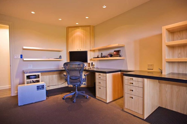 Bay area home office design with high end custom cabinets woodside for Custom home office design ideas