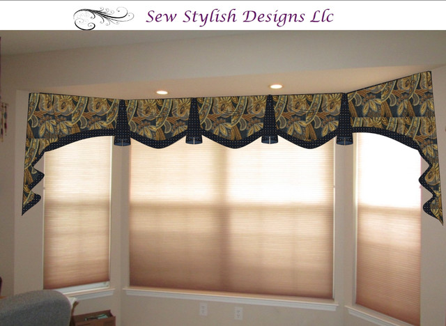 Bay Window Valance Digital Rendering Traditional Home Office