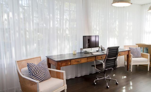 Beach House Office beach-style-home-office