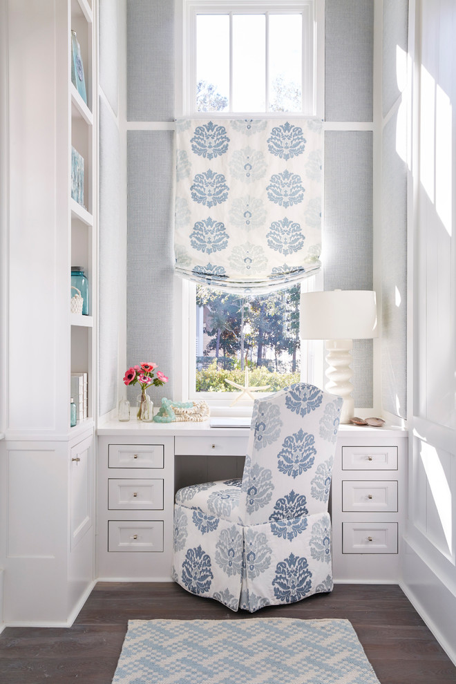 Inspiration for a coastal home office remodel in Atlanta