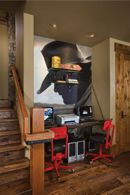 Bear Trap Home transitional-home-office