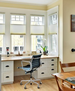 creating a home office needs one or more flat surfaces