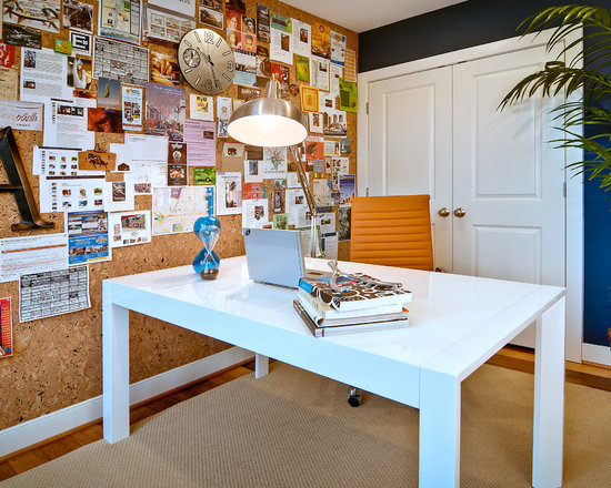 Wall Office Desk Home Design Ideas Pictures Remodel And