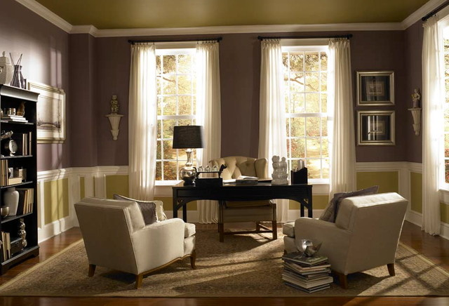 Behr paint idea photos traditional home office other metro by lks creative Home office design color ideas