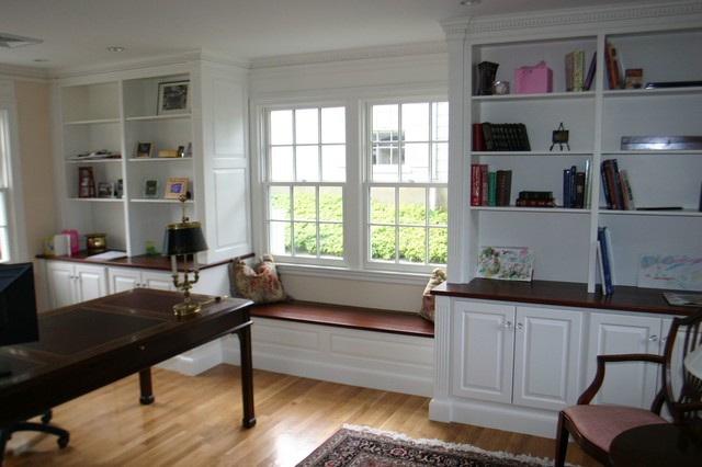 Belmont MA Built Ins Traditional Home Office And Library