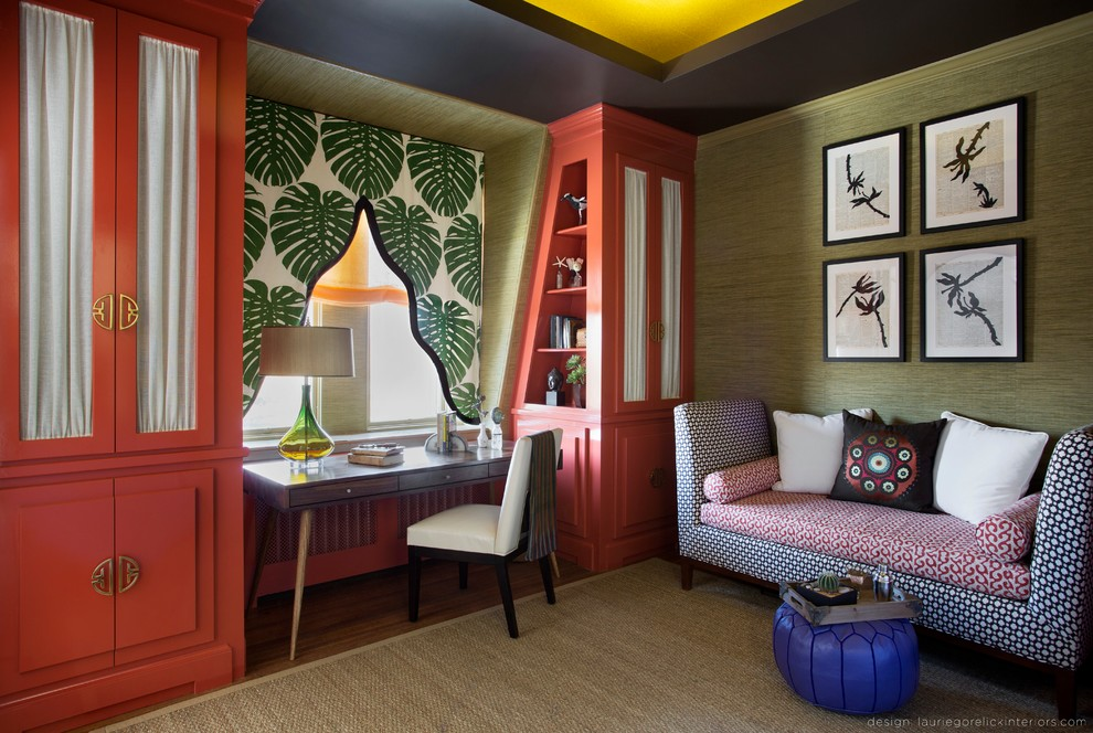 Inspiration for a contemporary home office remodel in New York