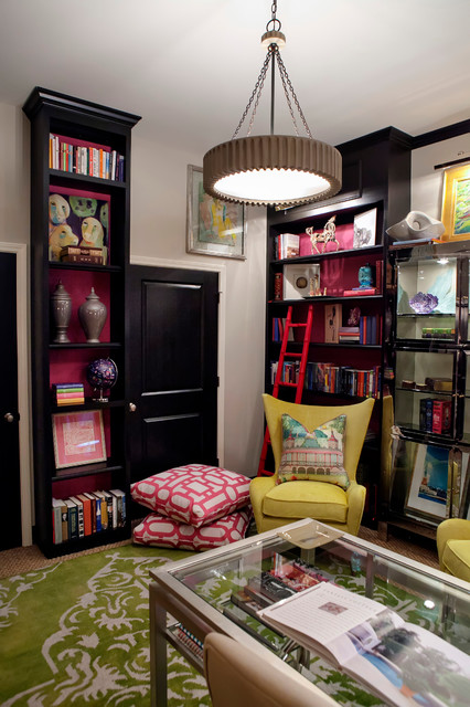 bibliotheque eclectic home office charleston by kate davidson design inc eclectic home theater by