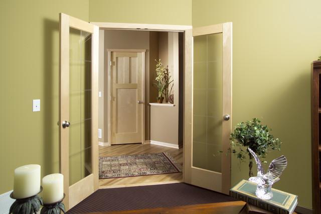 Birch Vgrv Gl Door With Flat Panel Saratoga Design 3k Modern G