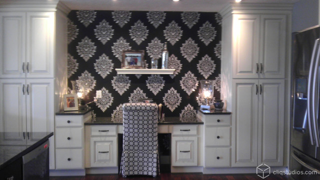 black and white kitchen with drama traditional home office black and white home office