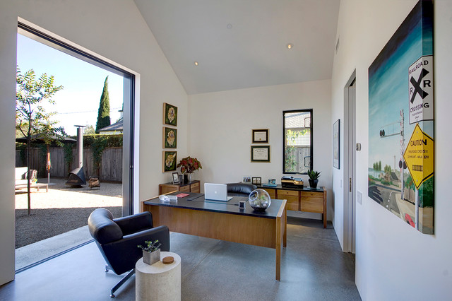 Peachy Black Is The New Farmhouse Midcentury Home Office San Largest Home Design Picture Inspirations Pitcheantrous