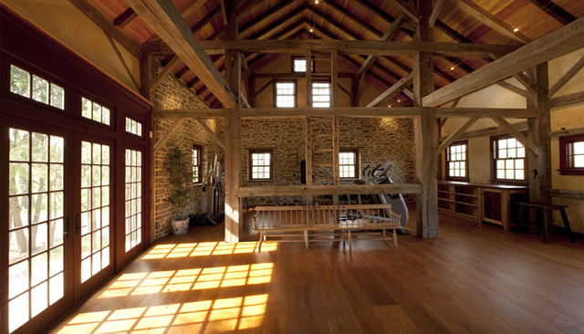 Black Walnut Farm Barn traditional home office