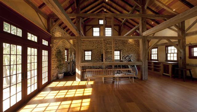 Black Walnut Farm Barn traditional-home-office