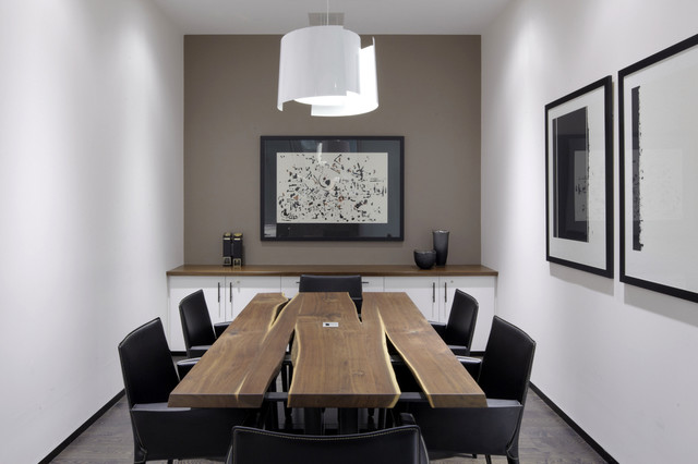 Black Walnut Meeting Dining Table From Cherrywood Studio Contemporary Home Office